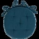 Galette de chaise ronde bleu figuerolles D40cm-CALANQUES