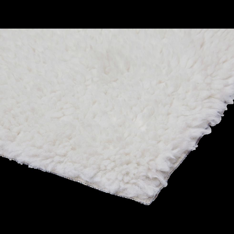 Tapis sherpa rectangulaire uni 100x133cm blanc ventoux-AURORE