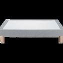 Sommier tapissier 140x190cm gris clair-SORMIOU