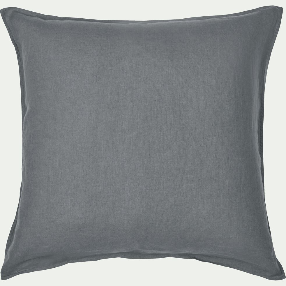 Lot de 2 taies d'oreiller en lin - gris restanque 65x65cm-VENCE