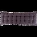 Coussin d'assise pour banc gris restanque 120x40cm-EMILIE