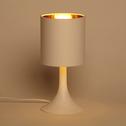 Lampe à poser blanche H27cm-FIRST