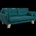 Canapé 3 places fixe en tissu vert-ICONE