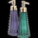 Distributeur de savon en verre vert-LILAS
