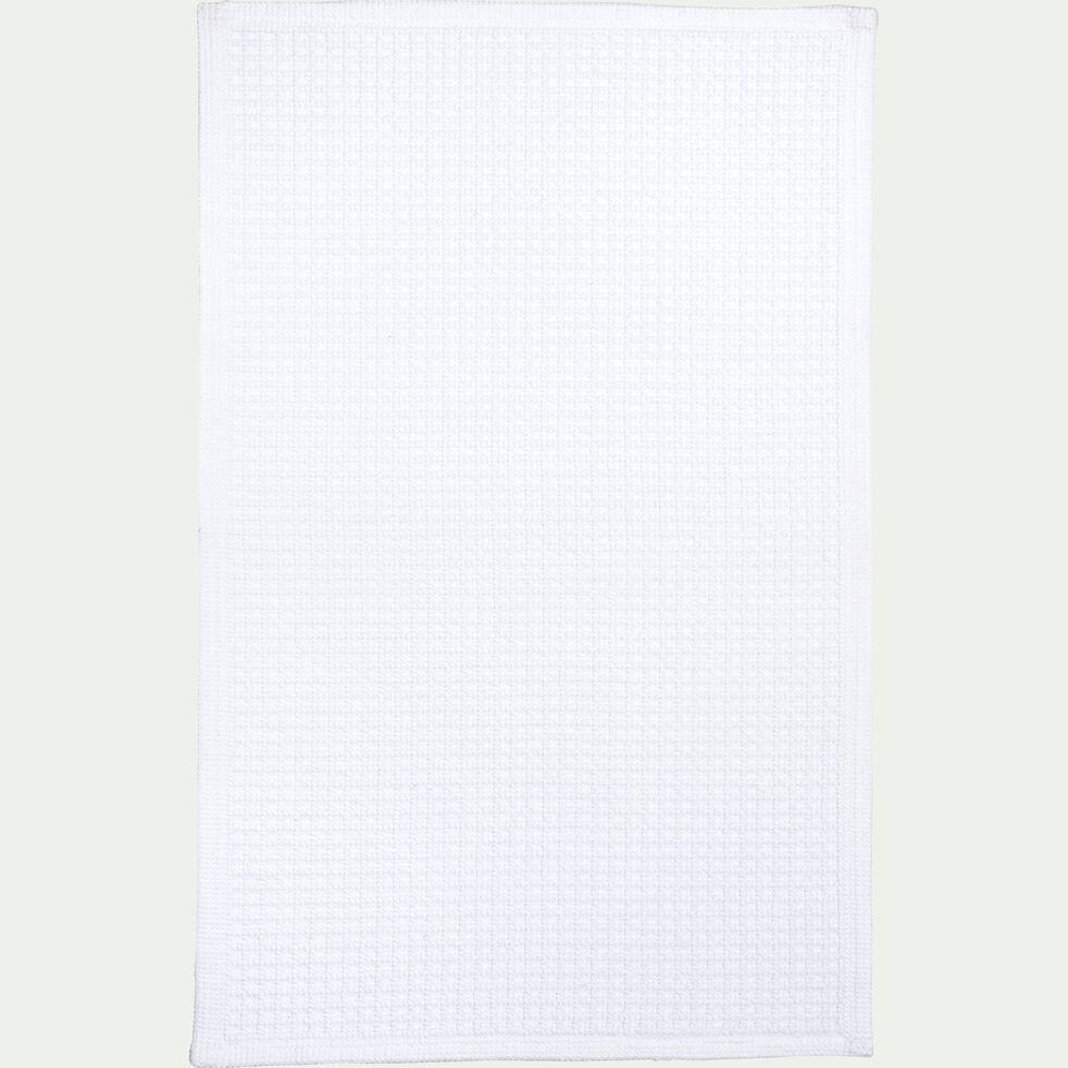 Tapis de bain 60x100cm blanc capelan-ESCAPADE