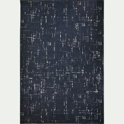 Tapis effet élimé - bleu 160x230cm-Blaise