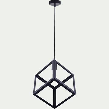 Suspension géométrique en métal noir L41cm-JUSTIN