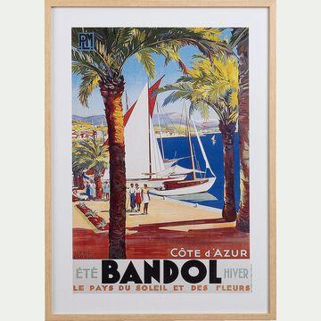 Image encadrée paysage Bandol 53x73cm-PLM BANDOL