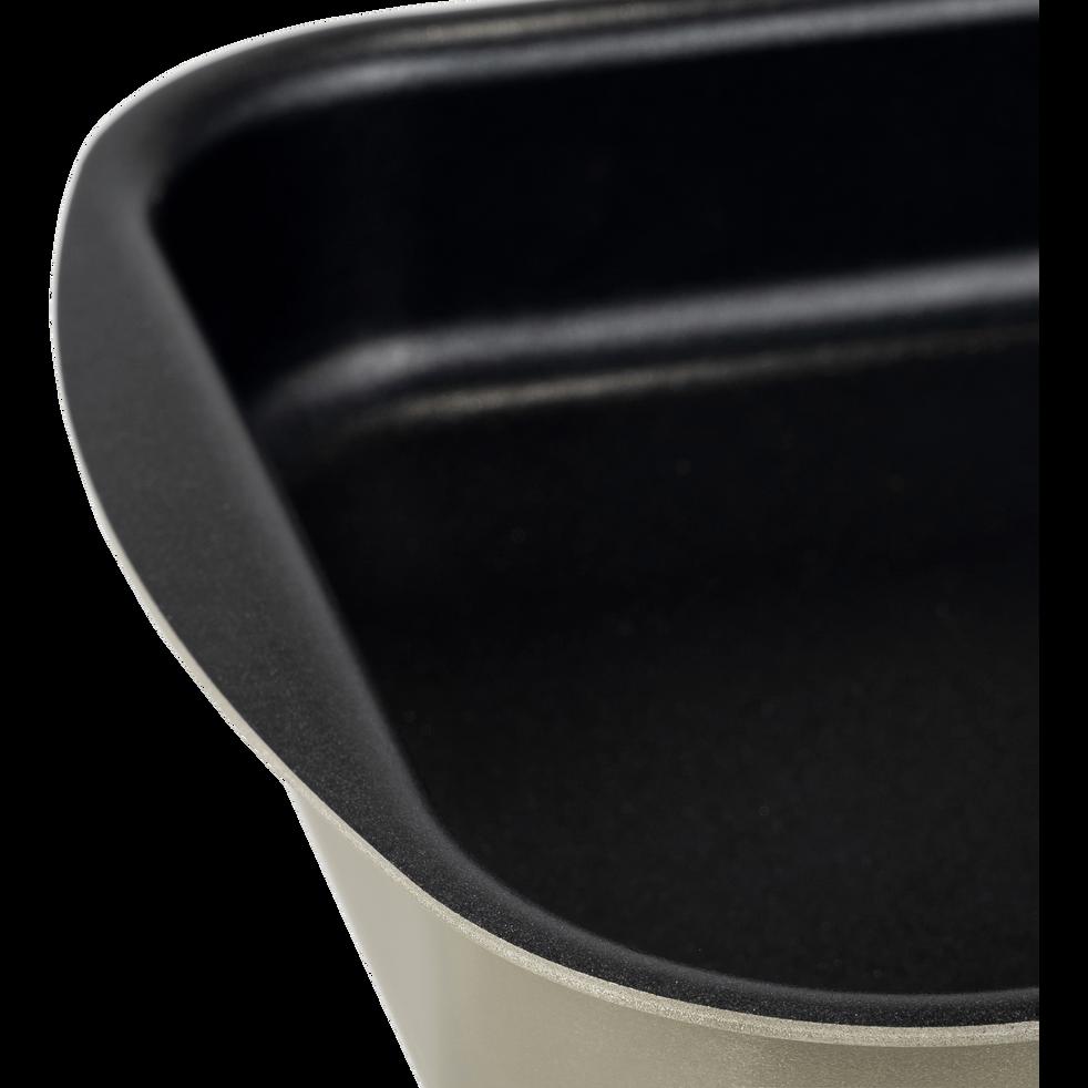 Plat à four rectangulaire en aluminium brun ombre 25x35cm-PINTO