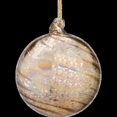 Boule en verre doré D12cm-BENEDICT