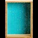 Étagère murale en fibre et métal bleue-BRAD