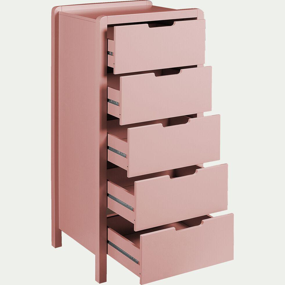 Chiffonnier 5 tiroirs en bois - rose salina-JAUME