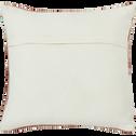 Coussin laine et coton 45x45 cm rose & écru-YOUSS