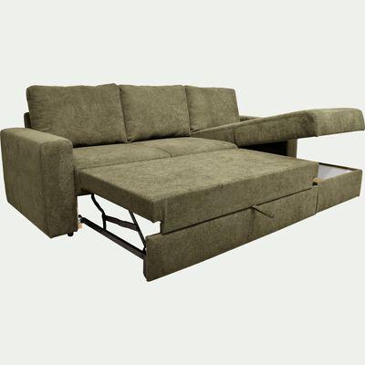 Canapé d'angle réversible 4 places convertible - vert cèdre-HONORE