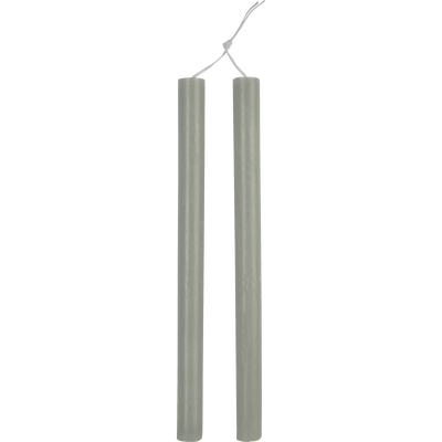 Bougie duo de flambeaux vert olivier D2xH30cm-BEJAIA