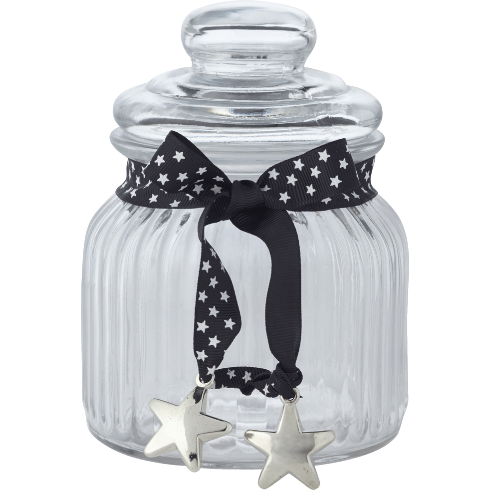 Bonbonnière en verre ruban noir 0.6L-HELENA