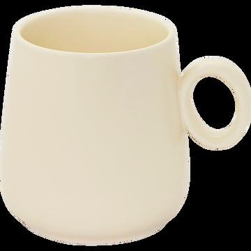Mug en porcelaine beige mat avec anse-OSAKA