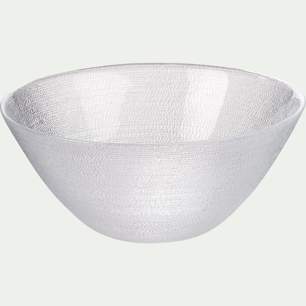 Coupelle en verre strié D15cm-ATENA