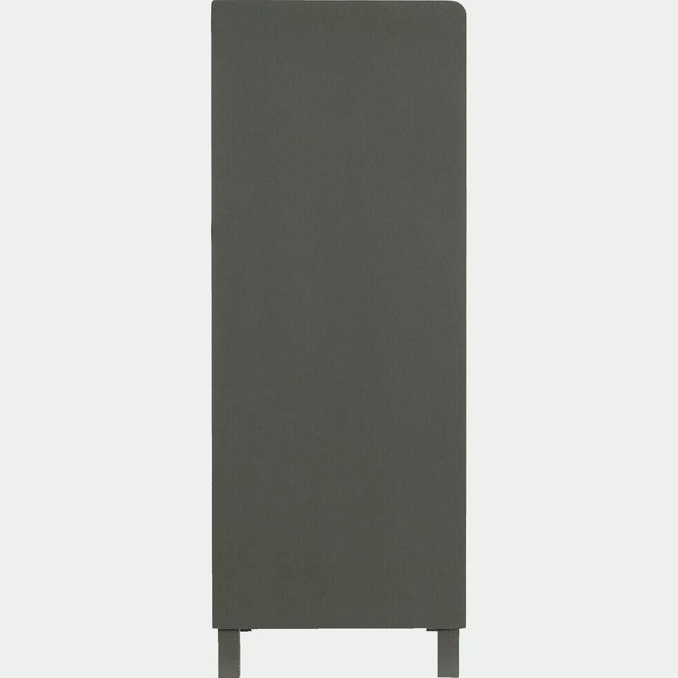 Chiffonnier 4 tiroirs en bois plaqué - vert cèdre-ROMARIN