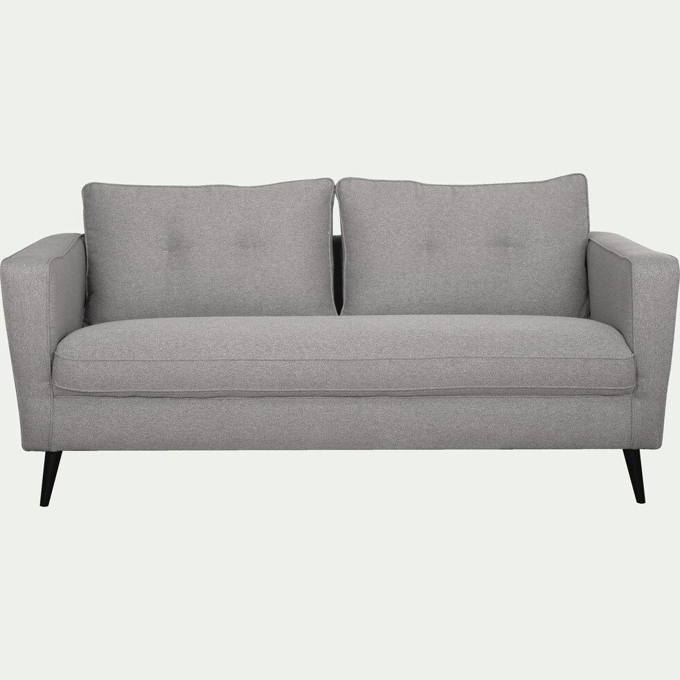 Canapé fixe 3 places en tissu - gris moyen-BARTHOLE