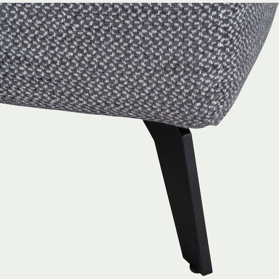 Canapé d'angle droit fixe en tissu - gris restanque-SALVIA