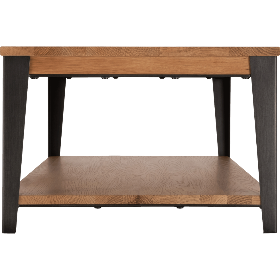 table basse en ch ne avec pi tement en acier noir mauguio tables basses alinea. Black Bedroom Furniture Sets. Home Design Ideas