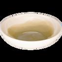 Assiette creuse en faïence vert olivier D16cm-SANARY