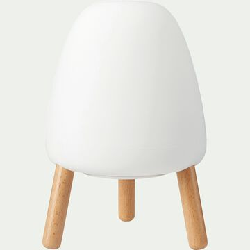 Lampe à poser tactile - blanc H20xD14cm-ROCKET 20