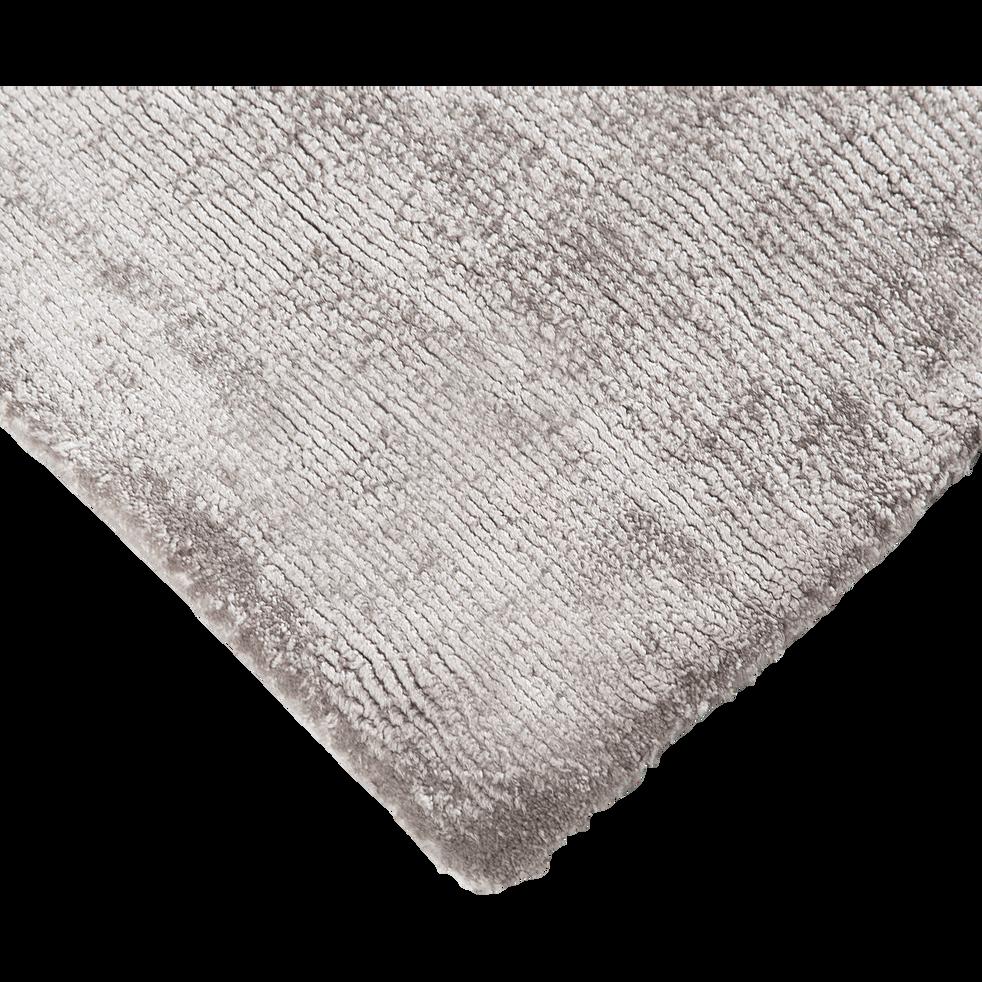 Tapis en viscose gris 120x170cm-TANSEN