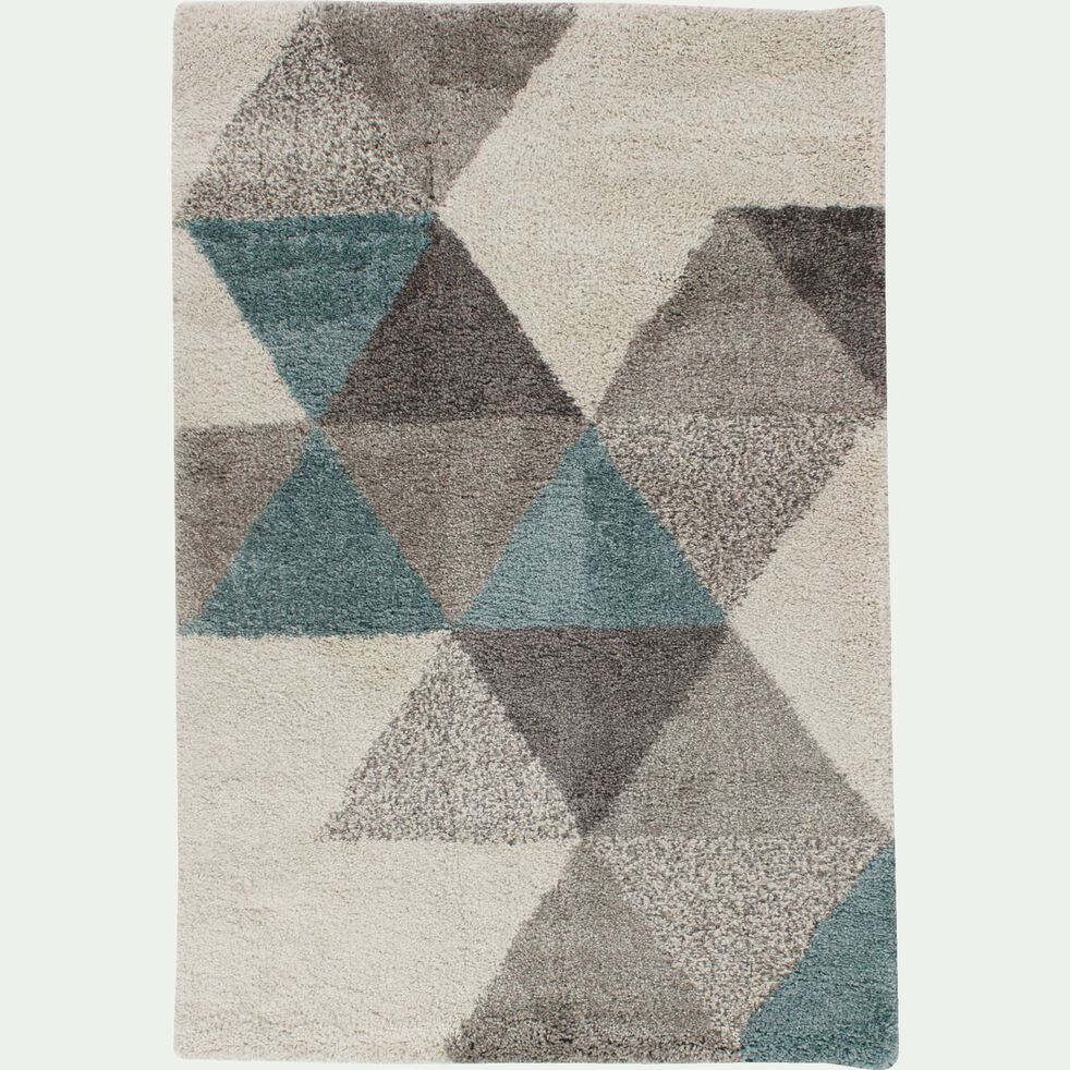 Tapis à motifs géométriques - bleu 200x290cm-OSLO