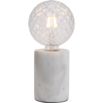 Lampe en marbre blanc H12,5xD9cm-PRAO