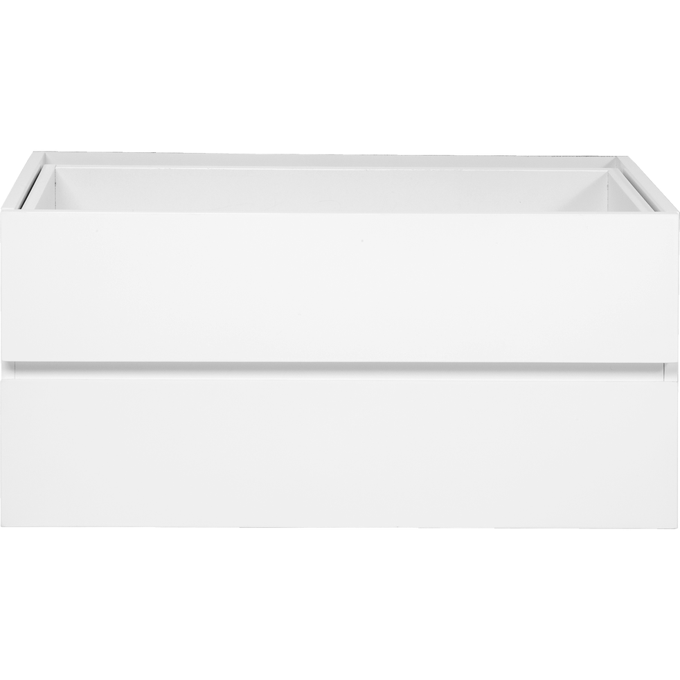 Bloc de 2 tiroirs blancs L75cm-Lorena