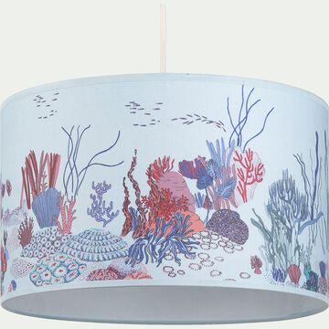 Abat-jour motif récif d35cm - multicolore-Sero