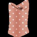 Panier de rangement pliable rose à pois blanc-GWEN