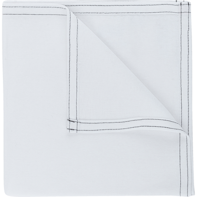Serviette de table en coton blanc 41x41cm-VENASQUE