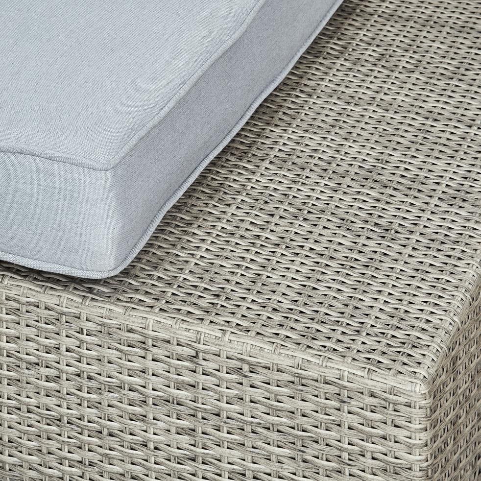 salon de jardin gris finition rotin tress 4 6 places. Black Bedroom Furniture Sets. Home Design Ideas