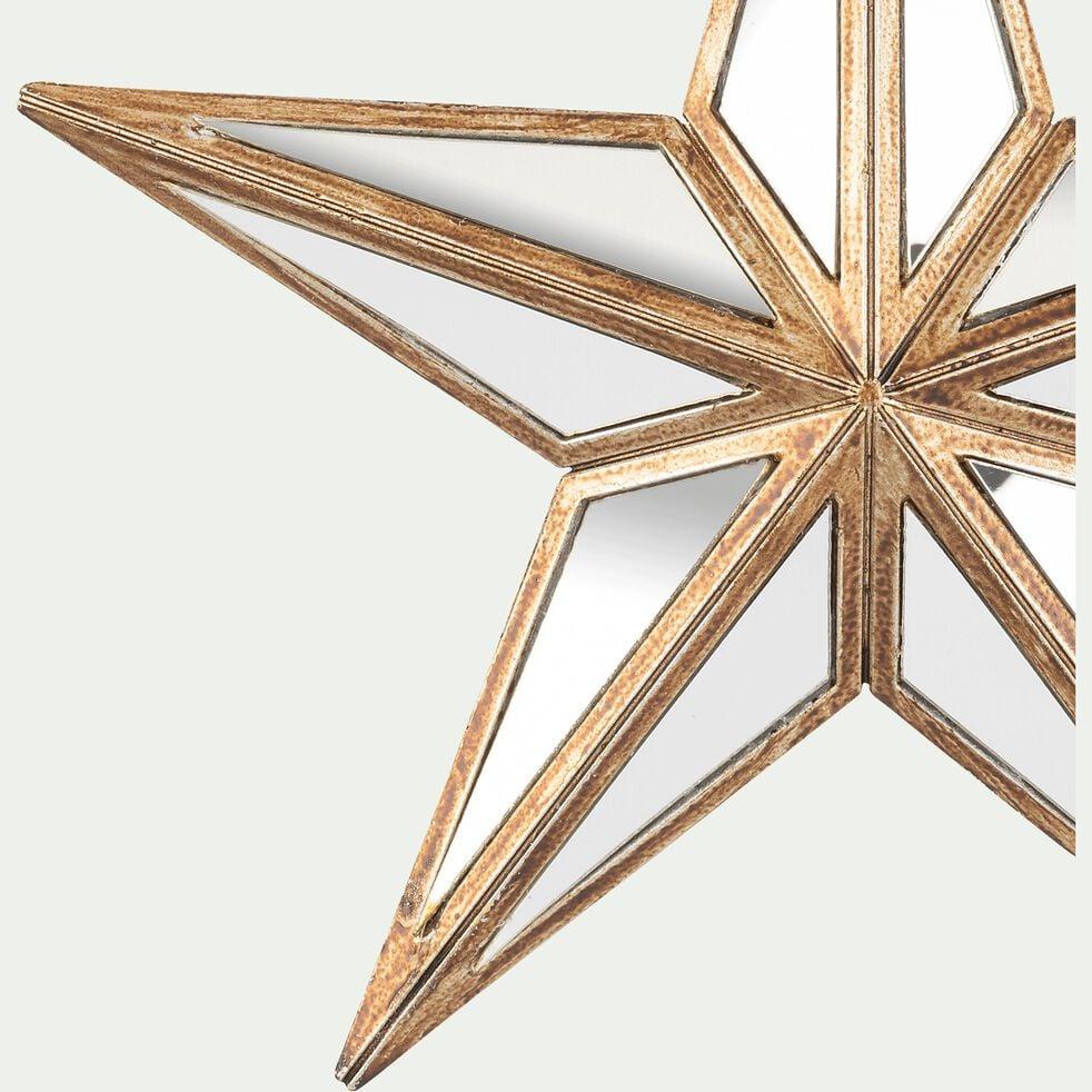 Suspension étoile de Noël - doré D15cm-RUF