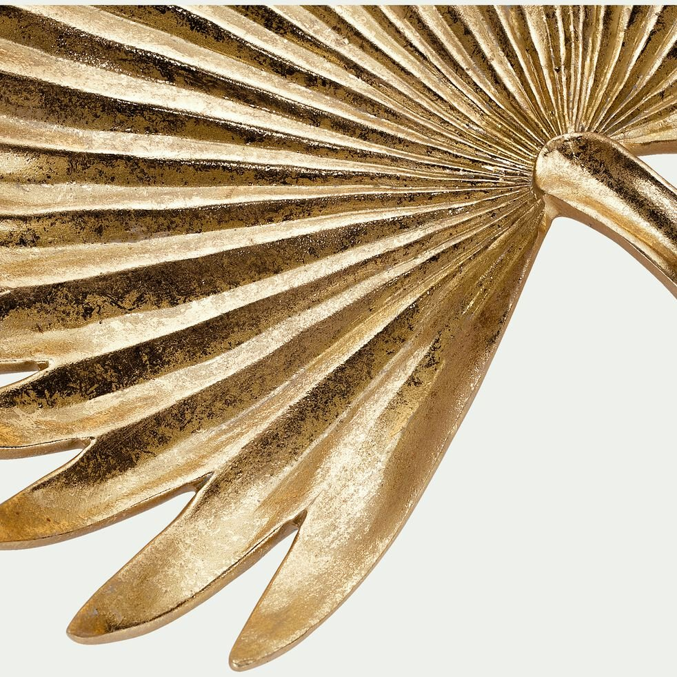 Coupe en feuille de palmier - doré 31x34cm-LEA