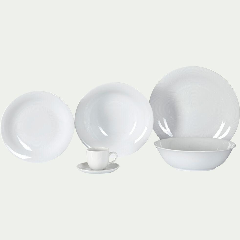 Assiette creuse en porcelaine qualité hôtelière blanc D23cm-ETO