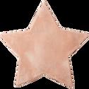 Tapis enfant rose poudré en forme d'étoile 100x100cm-SWEET