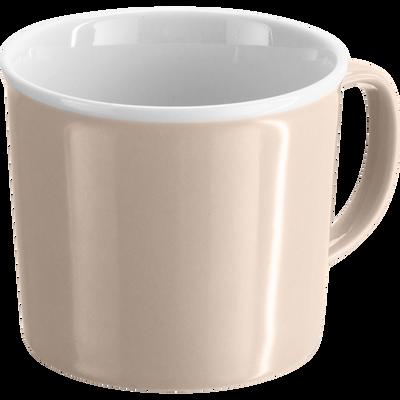 Mug en porcelaine rose grège 35cl-CAFI