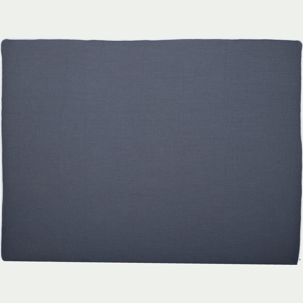 Housse en lin pour structure de tête de lit Honoré Gris restanque - L180 cm-HONORE