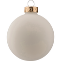 20 boules de Noël en verre doré, blanc et cuivré D6cm-DUA