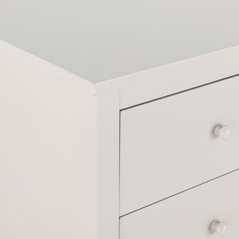 Commode 2x3 tiroirs en bois plaqué - gris-VALENTINE