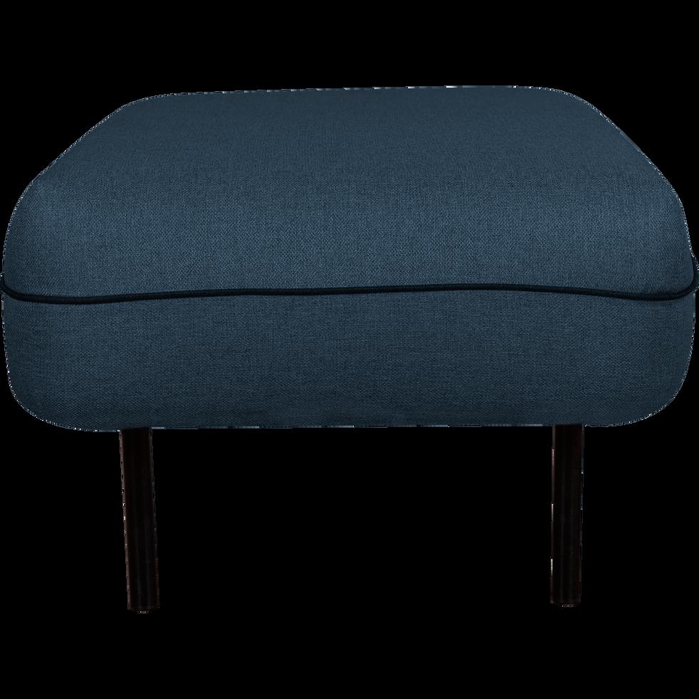 Pouf en tissu bleu figuerolles-SAOU