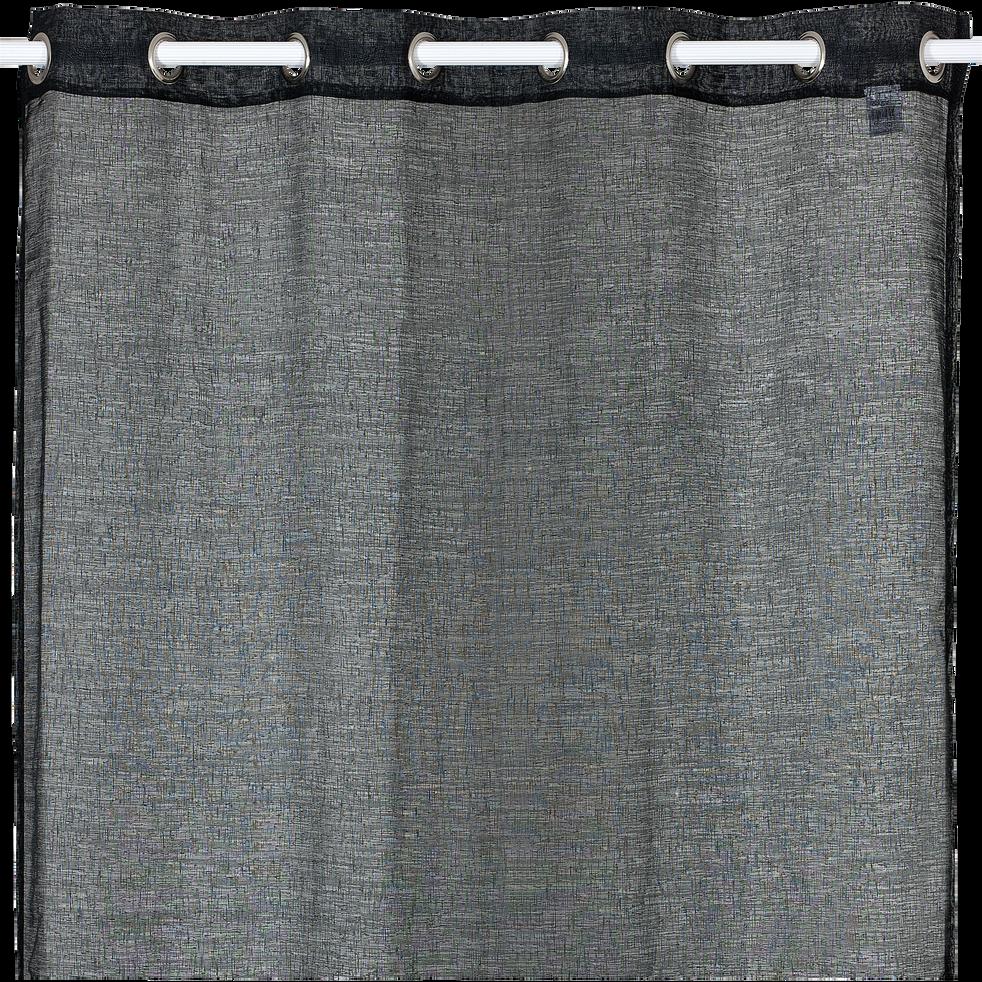 Voilage à œillets noir 135x250cm-DIESE
