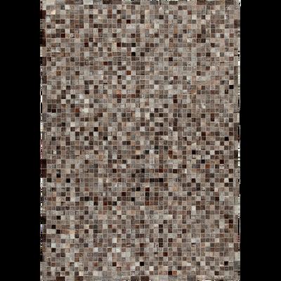 Tapis en cuir gris anthracite 140x200cm-LAYAN
