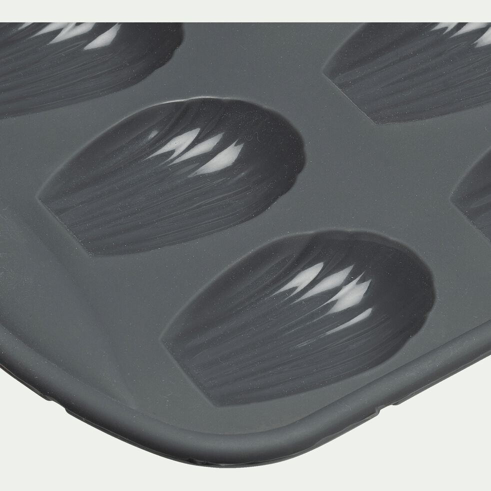 Plaque à madeleines x9 en silicone - gris-IRAU