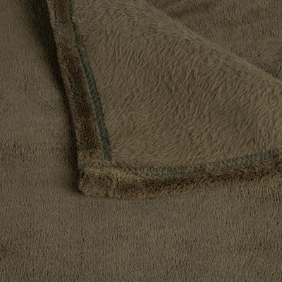 Plaid doux vert cèdre 130x170cm-ROBIN