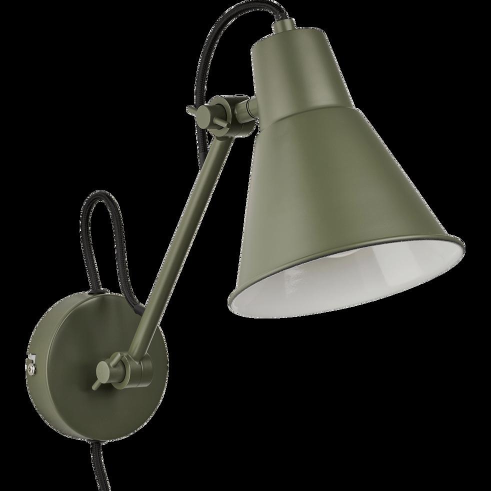 Applique orientable en métal vert cèdre H30xD14cm-BEYA
